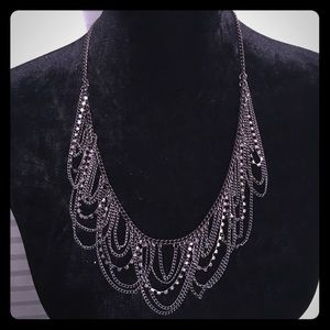 Gunmetal gray necklace